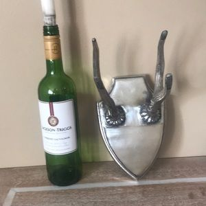 Decorative silver antlers